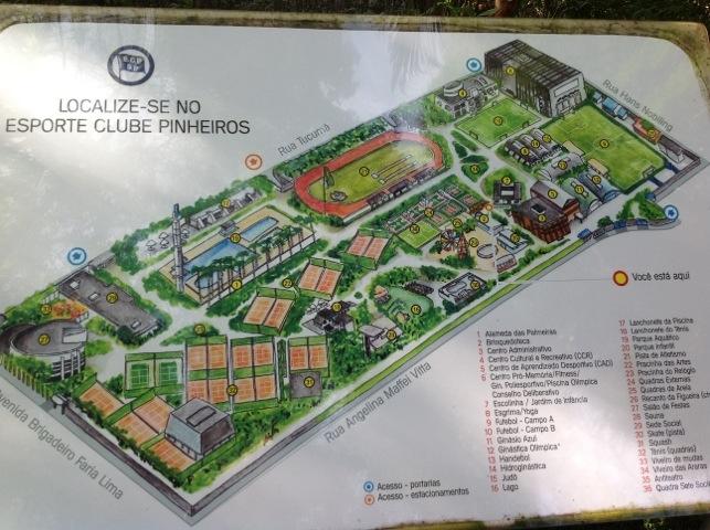 Mapa do Clube Pinheiros