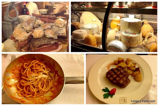 Pratos e comidas da Tarverna Trilussa em Roma